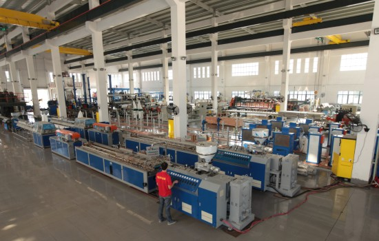 Conical Twin-Screw Profile Extrusion Line